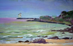 POA Islay Lighthouse, acrylic
